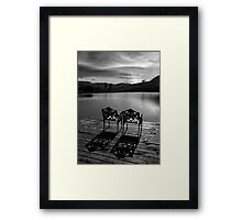 Just waiting... Framed Print
