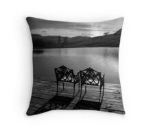Just waiting... Throw Pillow