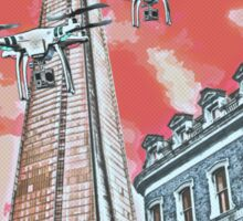 Drones leave the Shard nest in red by #fftw Sticker