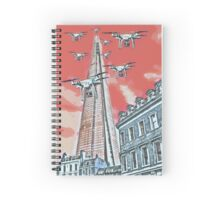 Drones leave the Shard nest in red by #fftw Spiral Notebook