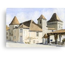 The chateau at Varaignes Canvas Print