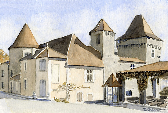 The chateau at Varaignes by ian osborne