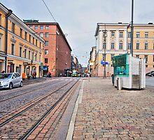 Helsinki Street Scene by robert cabrera