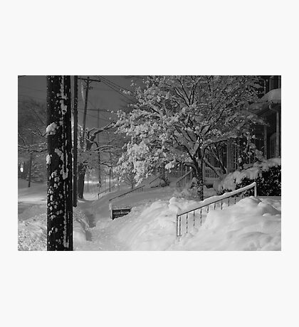 High Street Snow Scene Photographic Print