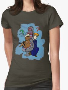 Otters on the Flight Deck Womens Fitted T-Shirt