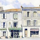 View from the Place de Tilleuls, Montbron, France by ian osborne