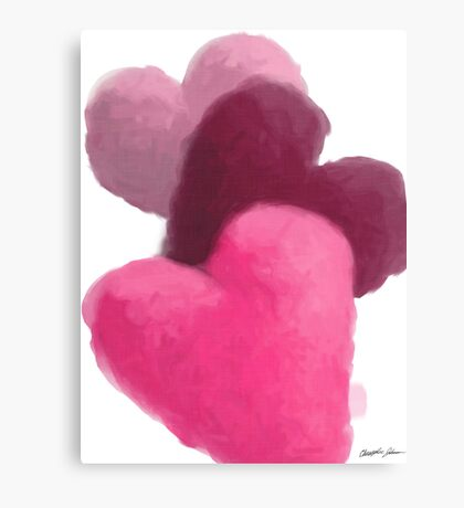 Hearts 3 Painterly Canvas Print