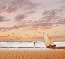 Soft Sunrise on the Beach 7 by Carlos Casamayor