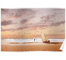 Soft Sunrise on the Beach 7 Poster