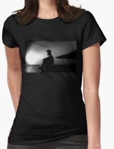 Alien Contemplation  Womens Fitted T-Shirt