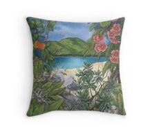 """Tropical Tranquility"" Throw Pillow"