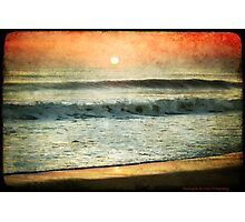 red sky in morning Photographic Print