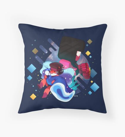 Ruby and Sapphire Made of Love Throw Pillow