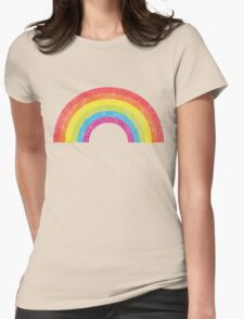 Vintage Rainbow Womens Fitted T-Shirt