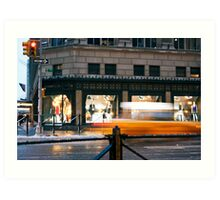 Saks 5th Avenue with Taxi...itsablurr Art Print