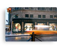 Saks 5th Avenue with Taxi...itsablurr Metal Print