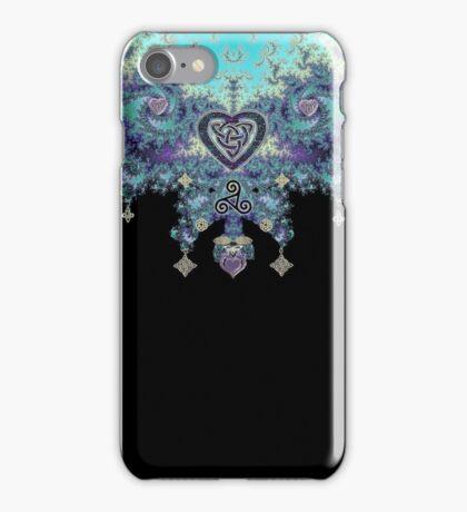 Jeweled Fractal Celtic Heart iPhone Case/Skin