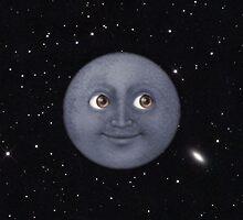 Moon Emoji in Space by lasarack