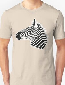 Zebra Head Unisex T-Shirt
