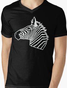 Zebra Head Mens V-Neck T-Shirt