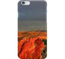 Writing on Stone at Sunset iPhone Case/Skin