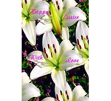 Easter Lilies,  Card Photographic Print