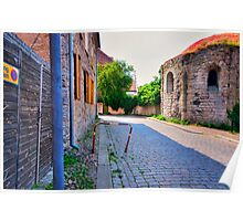 Cobble Stone Street Visby Sweden Poster