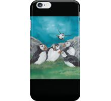 """""""Puffin Party"""" iPhone Case/Skin"""