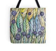 Dandelions.Hand draw  ink and pen, Watercolor, on textured paper Tote Bag