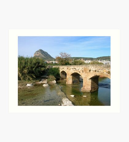 View to Javea from the 17th Century bridge Art Print