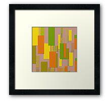City of Blocks Framed Print