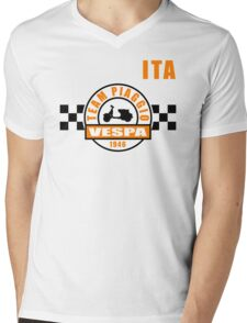 Vespa Team Mens V-Neck T-Shirt