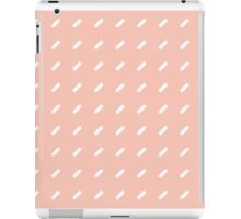 Geometric Lines - Peach/White iPad Case/Skin