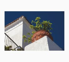 Contemplating Mediterranean Vacations - Red Tile Roofs and Terracotta Flowerpots Kids Clothes