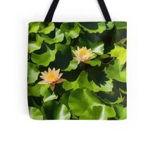 Light, Shadow and Color - Waterlily Pad Impression Tote Bag