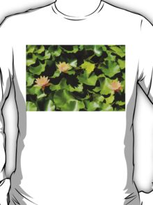 Light, Shadow and Color - Waterlily Pad Impression T-Shirt