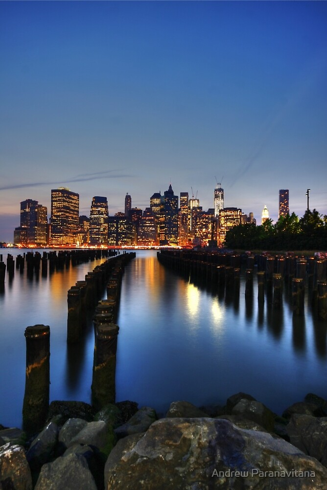 Blue Manhattan by Andrew Paranavitana