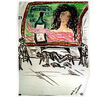Sûr le cay de métro á Paris 1976 Poster