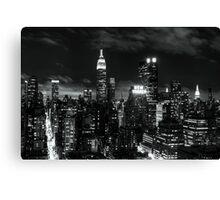 Monochrome City Canvas Print