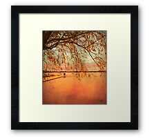 At End of Day Framed Print