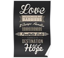 Love Recognizes No Barriers Poster