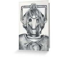 Cyberman Pencil Drawing Greeting Card