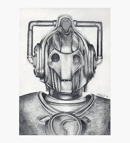 Cyberman Pencil Drawing Photographic Print