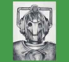 Cyberman Pencil Drawing Baby Tee