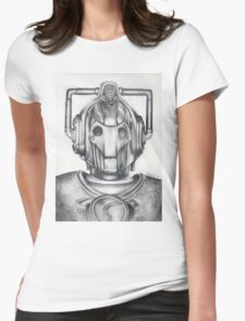 Cyberman Pencil Drawing Womens Fitted T-Shirt