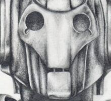 Cyberman Pencil Drawing Sticker