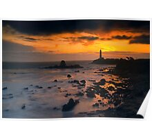 Sunset at Pigeon Point Lighthouse Poster