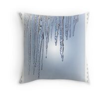 Looking Through the Icicles Throw Pillow