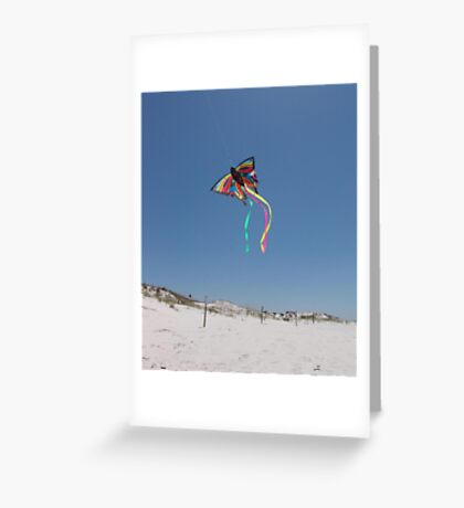 Butterfly Kite and Dunes Greeting Card