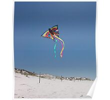 Butterfly Kite and Dunes Poster